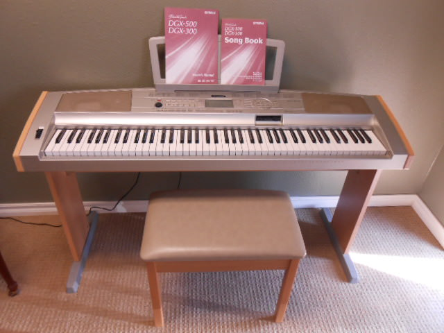 yamaha portable grand dgx 500 for sale in oklahoma bruce piano. Black Bedroom Furniture Sets. Home Design Ideas
